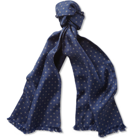 Paul Smith Shoes & Accessories Reversible Printed Wool and Silk-Blend Scarf