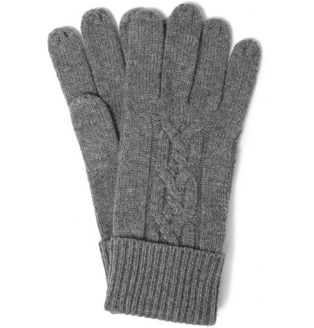 Paul Smith Shoes & Accessories Cable-Knit Cashmere Gloves