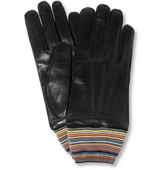 Paul Smith Shoes & Accessories Wool-Lined Leather Gloves