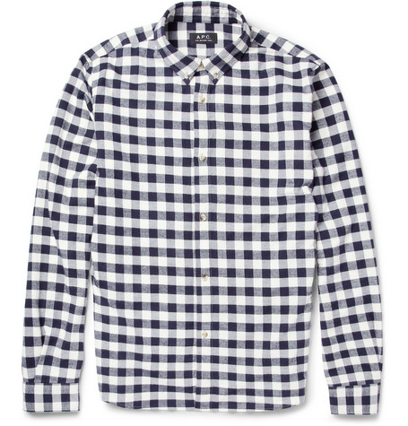 A.P.C. Check Brushed-Cotton Shirt