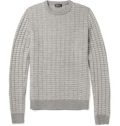 A.P.C. Patterned Ribbed Merino Wool Sweater