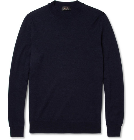 A.P.C. Merino Wool Crew Neck Sweater