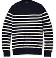 A.P.C. Striped Wool Crew Neck Sweater