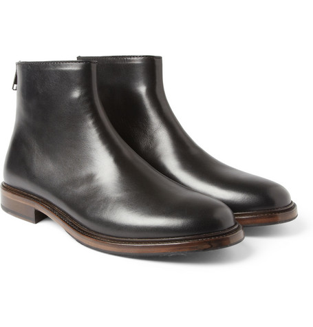 A.P.C. Zipped Leather Ankle Boots