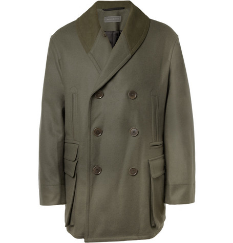 Christophe Lemaire Oversized Wool and Cashmere-Blend Peacoat