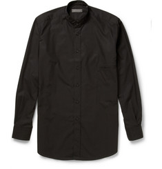 Christophe Lemaire Cotton-Poplin Grandad-Collar Shirt