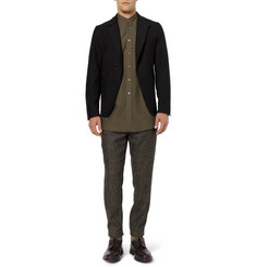 Christophe Lemaire Cotton-Twill Grandad-Collar Shirt
