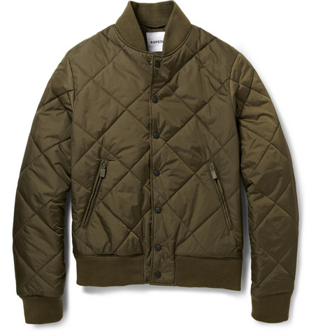 Aspesi Quilted Padded Bomber Jacket