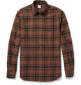 Aspesi - Madras Check Cotton-Blend Flannel Shirt