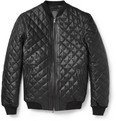 Lot78 - Quilted Leather Bomber Jacket