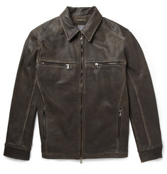 Lot78 Distressed Leather Jacket