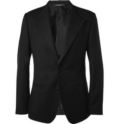 Dolce & Gabbana Slim-Fit Collarless Wool Blazer