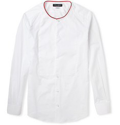 Dolce & Gabbana Gold-Fit Collarless Cotton Shirt