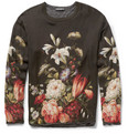 Dolce & Gabbana - Oversized Jersey-Lined Printed Silk T-Shirt