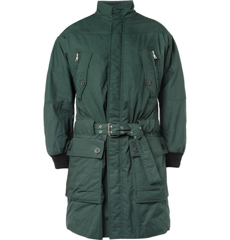 Balmain Cotton Parka Jacket with Detachable Quilted Lining