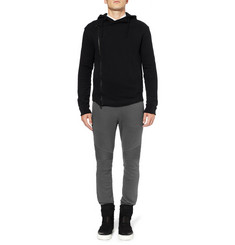 Balmain Cotton-Jersey Biker Sweatpants