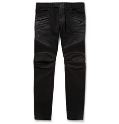Balmain Slim-Fit Distressed Denim Jeans