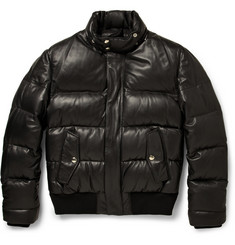 Givenchy Down-Filled Leather Jacket