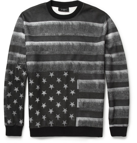 Givenchy Flag-Print Fleece-Back Jersey Sweatshirt