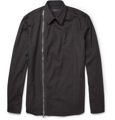 Givenchy Zipped Cotton-Poplin Shirt