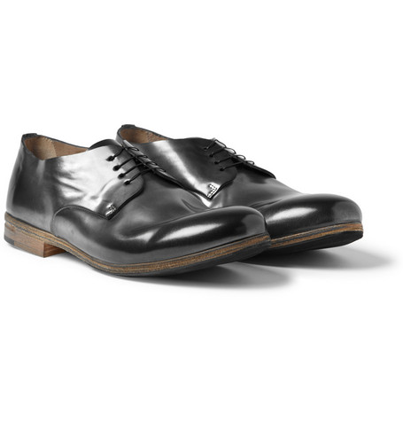 Marsell Metallic Leather Derby Shoes