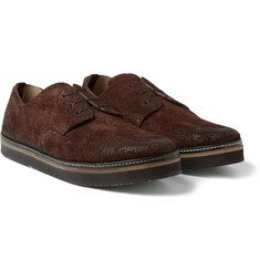 Marsell Distressed-Suede Derby Shoes