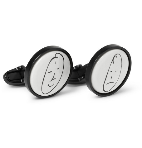Paul Smith Shoes & Accessories Printed Ceramic Cufflinks