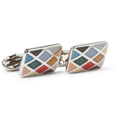 Paul Smith Shoes & Accessories Harlequin Patterned Cufflinks