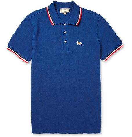 Maison Kitsuné Cotton-Pique Polo Shirt