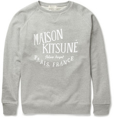 Maison Kitsuné Printed Loopback-Cotton Sweatshirt