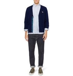 Maison Kitsuné Slim-Fit Striped Button-Down Collar Oxford Shirt