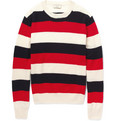 Maison Kitsuné - Striped Lambswool Sweater