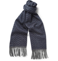 Bottega Veneta Patterned Cashmere Scarf