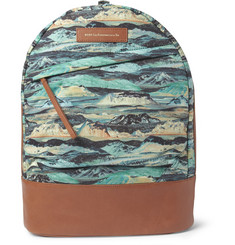 WANT Les Essentiels de la Vie Kastrup Liberty-Print Leather-Trimmed Canvas Backpack