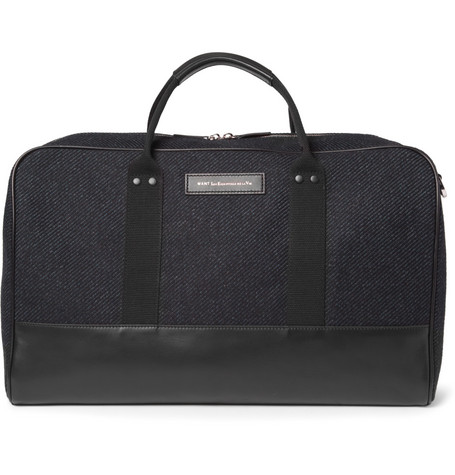 WANT Les Essentiels de la Vie Dulles Leather-Trimmed Tweed Holdall Bag