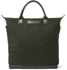 WANT Les Essentiels de la Vie O'Hare Leather-Trimmed Tweed Tote Bag