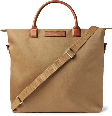 05c8cd67c8 WANT LES ESSENTIELSO Hare Leather-Trimmed Organic Cotton-Canvas Tote Bag