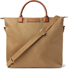 WANT LES ESSENTIELS - O'Hare Leather-Trimmed Organic Cotton-Canvas Tote Bag