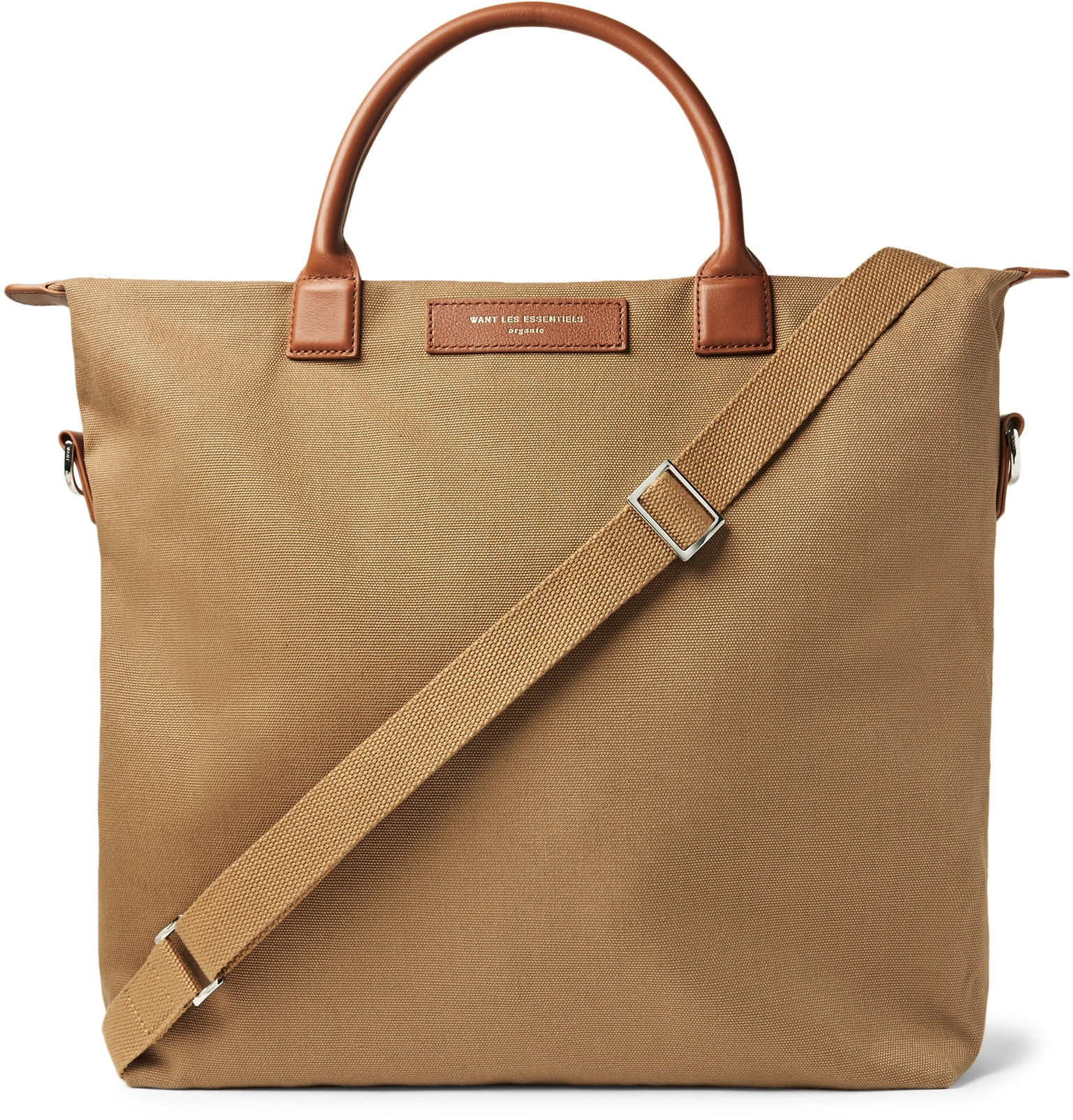 d18e66868c WANT LES ESSENTIELSO Hare Leather-Trimmed Organic Cotton-Canvas Tote Bag