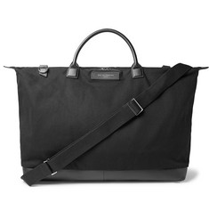 WANT LES ESSENTIELS - Hartsfield Leather-Trimmed Organic Cotton-Canvas Holdall