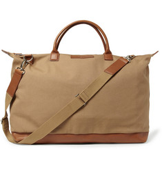 WANT Les Essentiels de la Vie Hartsfield Leather-Trimmed Organic Cotton-Canvas Holdall Bag