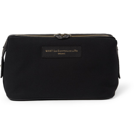 WANT Les Essentiels de la Vie Kenyatta Organic Cotton-Canvas Wash Bag