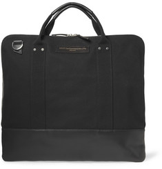 WANT Les Essentiels de la Vie Heathrow Leather-Trimmed Organic Cotton-canvas Messenger Bag