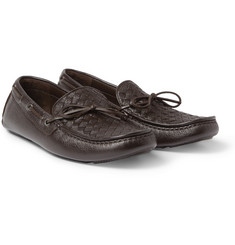 Bottega Veneta Intrecciato Leather Driving Shoes