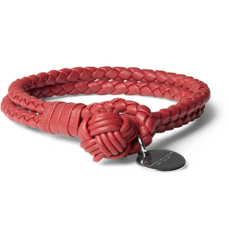 Bottega Veneta Intrecciato Leather Knot Bracelet