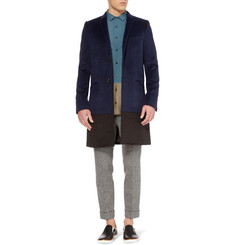 Kolor Slim-Fit Angora and Wool-Blend Coat