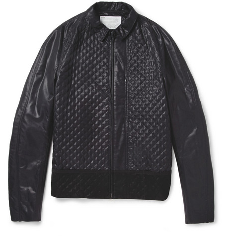 Kolor Quilted Coated-Wool Bomber Jacket