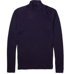 Kolor Zipped Fine Wool-Jersey Sweater