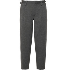 Kolor Cropped Pleated Wool Trousers