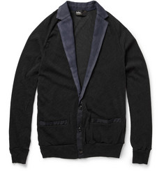 Kolor Contrast-Trim Wool-Blend Cardigan